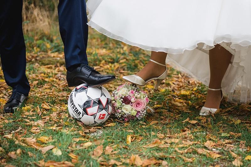 Hochzeit und Fussball